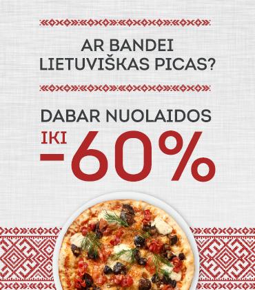 Lietuviškoms picoms iki -60% nuolaida!
