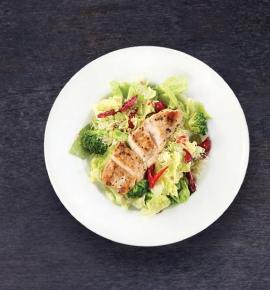 Dienos sriuba + Lapinės salotos su skrudinta vištiena