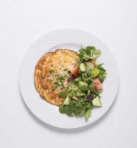Omletas su kumpiu ir sūriu