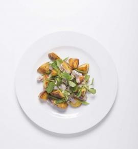 Silkių ir bulvių salotos