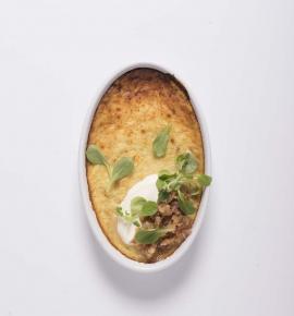 Bulvių plokštainis su kiauliena